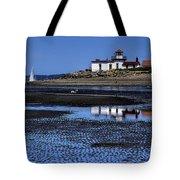Low Tide At The Lighthouse Tote Bag