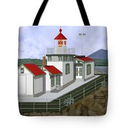 Low Tide At West Point Lighthouse In Seattle Tote Bag