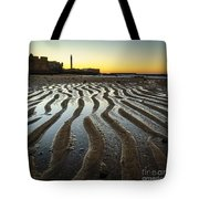 Low Tide On La Caleta Cadiz Spain Tote Bag