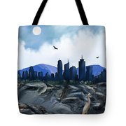 Low Tide Sea Side Tote Bag
