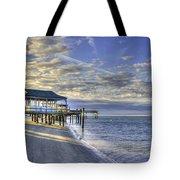 Low Tide Sunrise Tybee Island Tote Bag