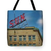 Lowell Sun Sign Tote Bag