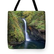 Lower Butte Creek Falls Plunging Into A Pool Tote Bag
