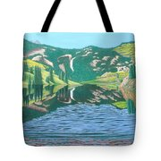 Lower Cataract Lake And Cataract Creek Falls Tote Bag