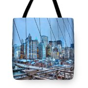 Lower East Side At Dusk From The Brooklyn Bridge Tote Bag