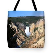 Lower Falls @ Yellowstone National Park Tote Bag