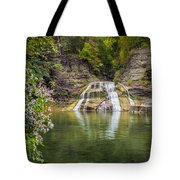 Lower Falls Of Enfield Glen Robert H. Treman State Park Tote Bag