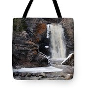 Lower Falls On Fall River Tote Bag