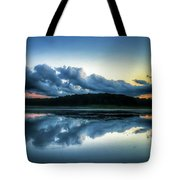 Lower Lake Sunset Tote Bag