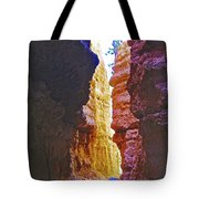 Lower Level Of Wall Street On Navajo Trail In Bryce Canyon National Park, Utah Tote Bag