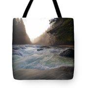 Lower Lewis River Falls During Sunset Tote Bag