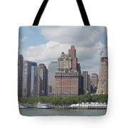 Lower Manhattan Panorama Tote Bag