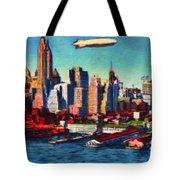 Lower Manhattan Skyline New York City Tote Bag