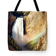 Lower Rainbow Of Colors Tote Bag