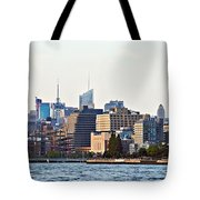 Lower West Side On The Waterfront Tote Bag