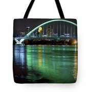 Lowry Bridge In St. Patrick's Day Green Tote Bag