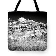 Lowry Pueblo Ruin Black And White Tote Bag