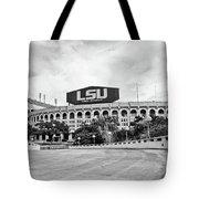 Lsu Tiger Stadium -bw Tote Bag