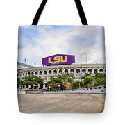 Lsu Tiger Stadium Tote Bag by Scott Pellegrin