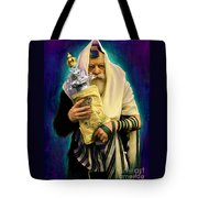 Lubavitcher Rebbe With Torah Tote Bag by Sam Shacked