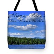 Luby Bay On Priest Lake Tote Bag