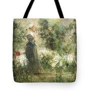 Luca Postiglione Napoli 1876 - 1936 The White Fleurs-de-lis Tote Bag