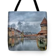 Lucerne Chapel Bridge Tote Bag