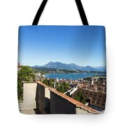 Lucerne Old Town In Switzerland Tote Bag