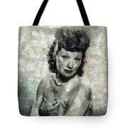 Lucille Ball Vintage Hollywood Actress Tote Bag