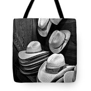 Luckenbach Hats Black And White Tote Bag