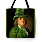 Lucky Ben Franklin In Green Tote Bag