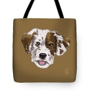 Lucky Brown Mixed Breed Tote Bag