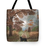 Lucky Crossing Tote Bag