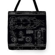 Lucy The Elephant Building Patent Blueprint 3 Tote Bag