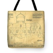 Lucy The Elephant Building Patent Blueprint  Tote Bag