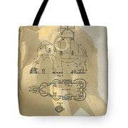 Lucy The Elephant Building Patent Tote Bag
