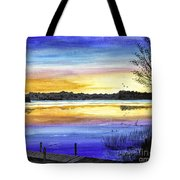 Ludington Sunrise Painting Tote Bag
