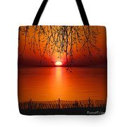 Ludington Sunset April 2016 Tote Bag