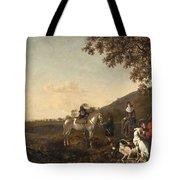 Ludolph De Jongh And Joris Van Der Hagen 1616 Rotterdam - Hillegersberg 1679 Or 1615 Hunting Party A Tote Bag
