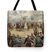 Ludwig Koch, Franz Josef I And Wilhelm II With Military Commanders During Wwi Tote Bag