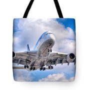 Lufthansa Airbus A380 In Hdr Tote Bag