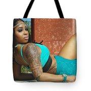 Luisa In Teal Tote Bag