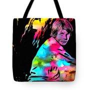 Luke Skywalker Paint Splatter Tote Bag