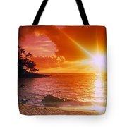 Lumahai Beach Sunset Tote Bag