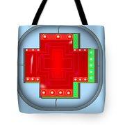 Luminous Cross Tote Bag