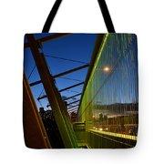Luminous Green Bridge Tote Bag