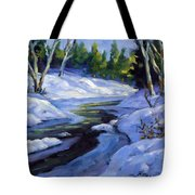 Luminous Snow Tote Bag
