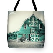 Luna Barn Teal Tote Bag