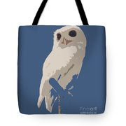Luna The Rescued White Leucistic Eastern Screech Owl Abstracted Tote Bag