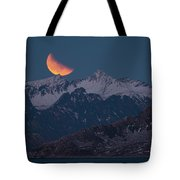 Lunar Eclipse In Lofoten Tote Bag